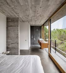 appealing mediterrrani residence interior with solid concrete