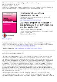 dioptas a program for reduction of two dimensional x ray