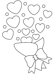bouquets of love valentines day coloring pages valentine