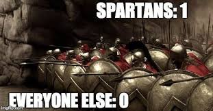 Sparta Meme - how did the spartans fight science abc