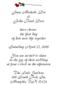 reception cards wording simple yet wording of invitation response card