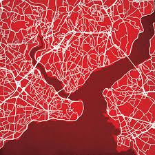 Lambeau Field Map Pro Football Stadium Poster Prints City Prints Map Art