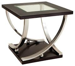 Glass Side Table Melrose Square Glass Top End Table Dark Merlot Side Tables And