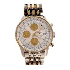breitling steel bracelet images Breitling stainless steel and yellow gold navitimer chronograph jpeg