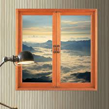 cloud layer 3d window view pag wall decals artificial view room cloud layer 3d window view pag wall decals artificial view room stickers home wall decor gift