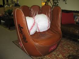 baseball glove chair and ottoman set