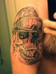 firefighter skull breathing smoke firefighter tattoos