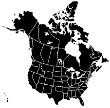 combined map of usa and canada usa canada silhouette transbg mapsof net