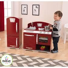 Play Kitchen Red Kidkraft 2 Piece Red Retro Kitchen And Refrigerator Walmart Com