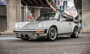silver porsche carrera 1989 porsche 911 carrera cabriolet 25th anniversary edition