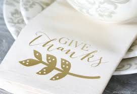 diy thanksgiving dinner napkin cricut explore iron on vinyl