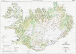 Iceland Map Location Vegetation Maps Of Iceland Vegetation Maps Maps Publications