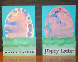 easter egg in the grass cards in lieu of preschool