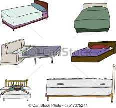 Drawing Of A Bed Vectors Illustration Of Various Bed Cartoons Isolated Cartoons