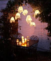 romantic lantern for amazing garden using romantic climbing plants