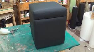 Upholster Ottoman Diy How To Upholster A Storage Ottoman Alo Upholstery