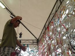paper cranes installation bedok community centre singapore