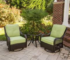Swivel Outdoor Chair Orleans 3 Piece Outdoor Bistro Set With Swivel Glider Chairs