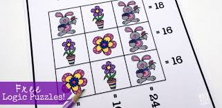spring themed logic puzzles free