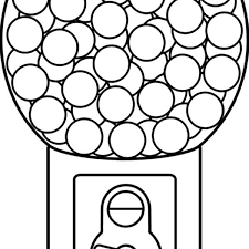 bubble gum machine coloring page gumball clipart coloring page