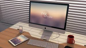imac desk iphone ipad and imac mockup templates freebies gallery