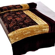Bed Table Online Shopping In India Buy Little India Jaipuri Double Bed Velvet Quilt Dli3drz407 With