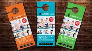 spa beauty door hanger template magazine templates creative market