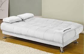 piccolo divano letto divano letto 187x112x40 bianco o nero in ecopelle