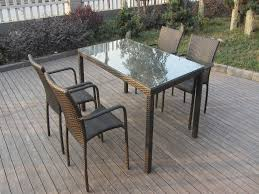 Rattan Kitchen Furniture by Exquisite Rattan Dinette Sets With Brown Natural Rattan Chairs And