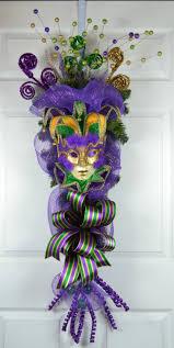 mardi gras deco mesh bosemet mardi gras deco mesh swag with jester mask gaslight floral