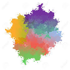 vector paint drops with color transition royalty free cliparts
