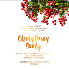 christmas cocktails invite merry christmas party invitation and happy new year party