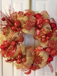 and gold deco mesh wreath on etsy 100 00