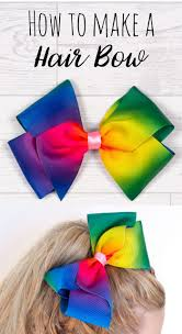 how to make your own hair bows make your own diy jojo bow boutique hair bow craft tutorial