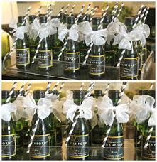 wedding shower party favors bridal shower party favors small bottles of chagne with a