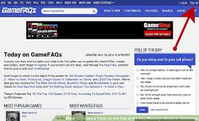 Creating A Vita How To Create A Topic On The Poll Of The Day Message Board At Gamefaqs