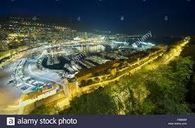 Monte Carle Night Scene Of Monte Carlo City Monaco Harbour Stock Photo