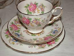 a very pretty vintage floral tea set kent vintage china hire