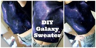 galaxy sweater diy galaxy sweater