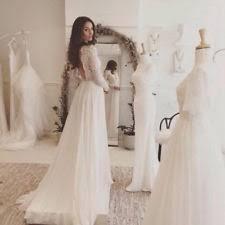 chiffon ball gown duchess long sleeve wedding dresses ebay