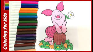 colouring book kids color piglet winnie pooh