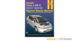 what is the best auto repair manual 2001 mazda miata mx 5 engine control honda civic 2001 2010 crv 2002 2009 haynes repair manual haynes