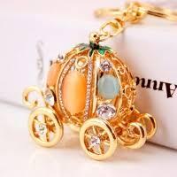 Pumpkin Carriage Cinderella Pumpkin Carriage Diamante Rhinestone Bag Charms Handbag