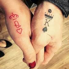 couple tattoo queen u0026 king matching tattoos for couples that