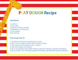 printable playdough recipes homemade play dough how to