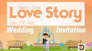 membuat video wedding invitation save the date animated digital wedding invitation video youtube
