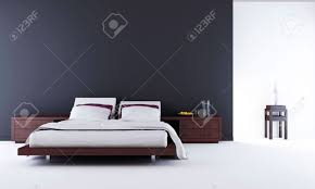 Living Room Setting Living Room Setting Bed To Face A Blank Wall Stock Photo