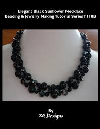 elegant black necklace images Elegant black sunflower necklace beading jewelry making tutorial jpg