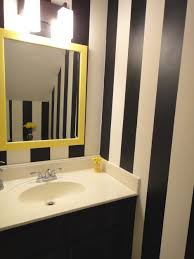 furniture creative mirror design bathroom idea with yellow frame