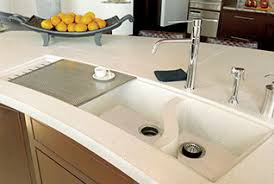 Countertop Kitchen Sink Concrete Countertops And Concrete Sinks In The Home